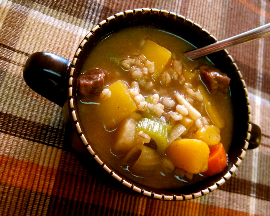 Hearty Beef and Barley Stew with Root Vegetables