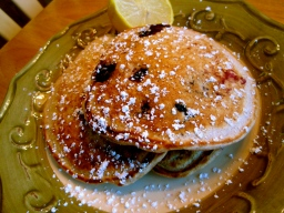 Whole-Wheat Blueberry and Lemon Pancakes