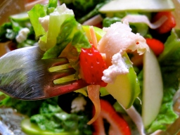 Summer Salad with Strawberry Balsamic Dressing