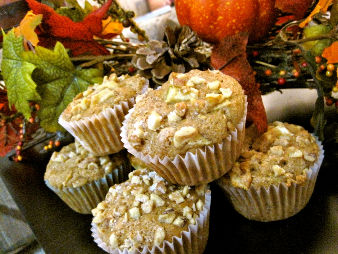 Apple Cinnamon Muffins with Flax and Walnuts