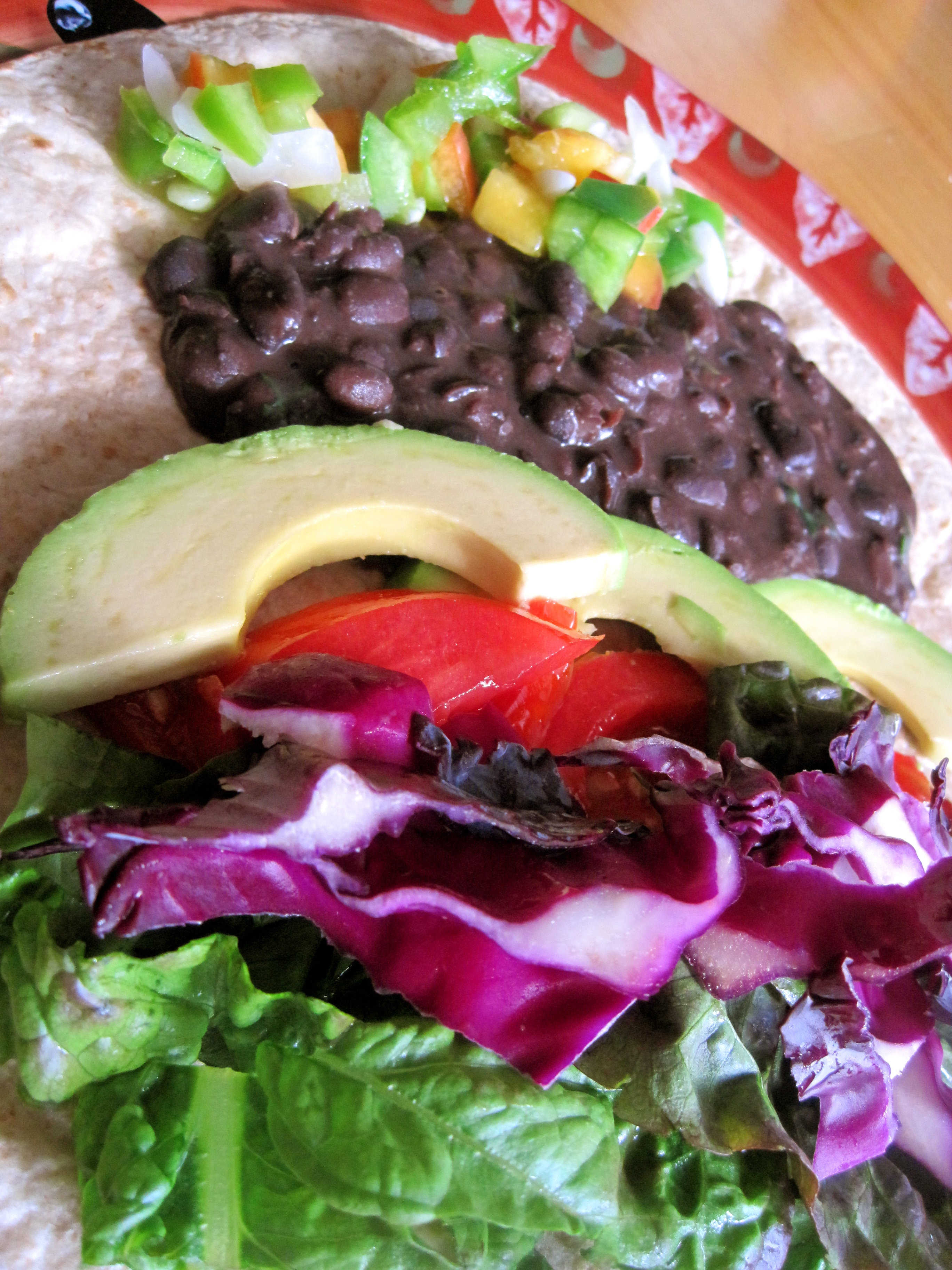 In my tacos, I love using super colorful, fresh ingredients. It's a ...