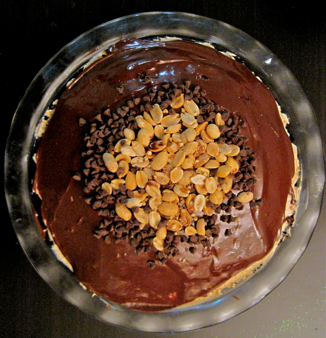 Chocolate and Peanut Butter Mousse Pie