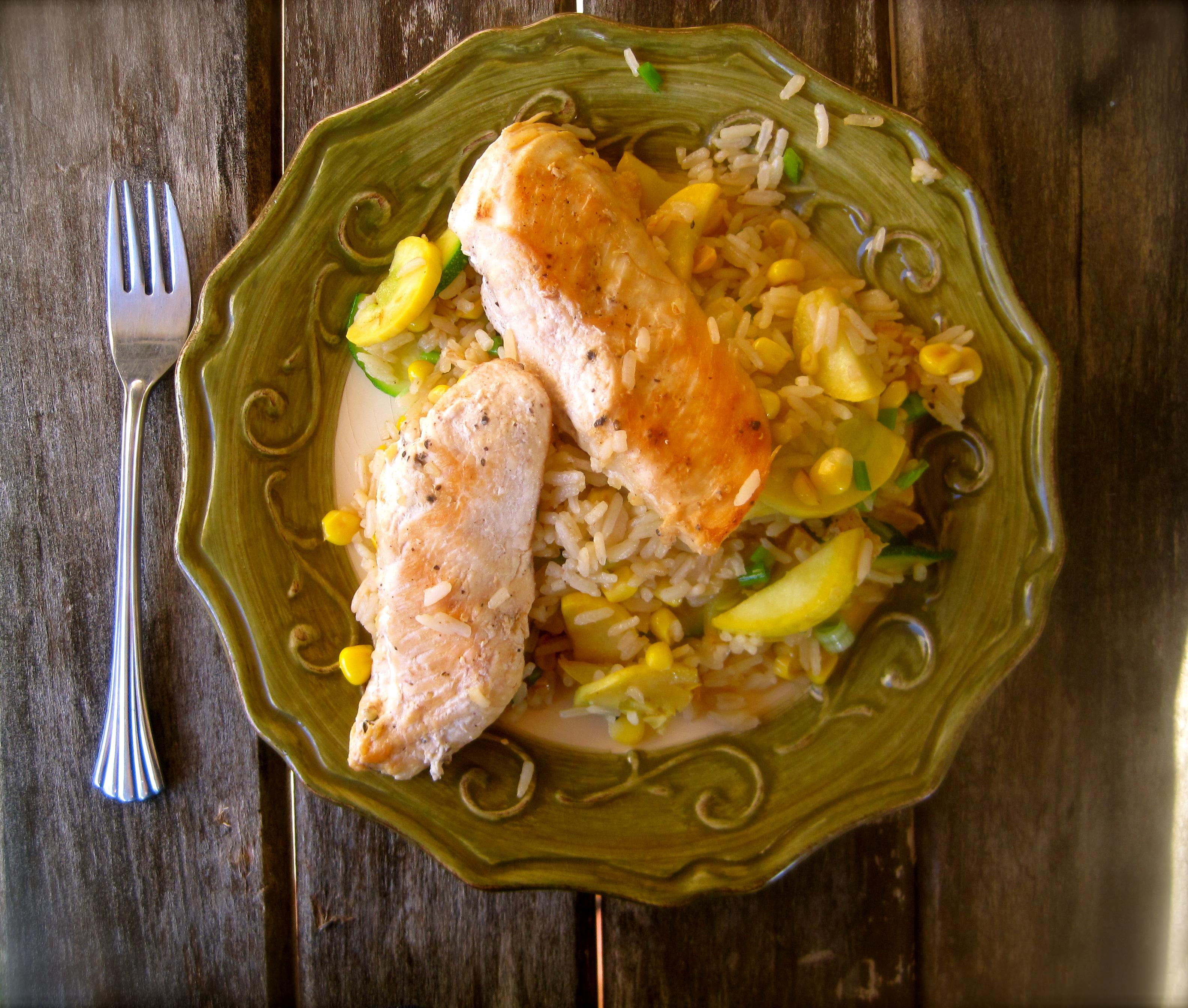 Garden-Fresh Chicken and Rice – Rhyann\'s Rad-Ventures