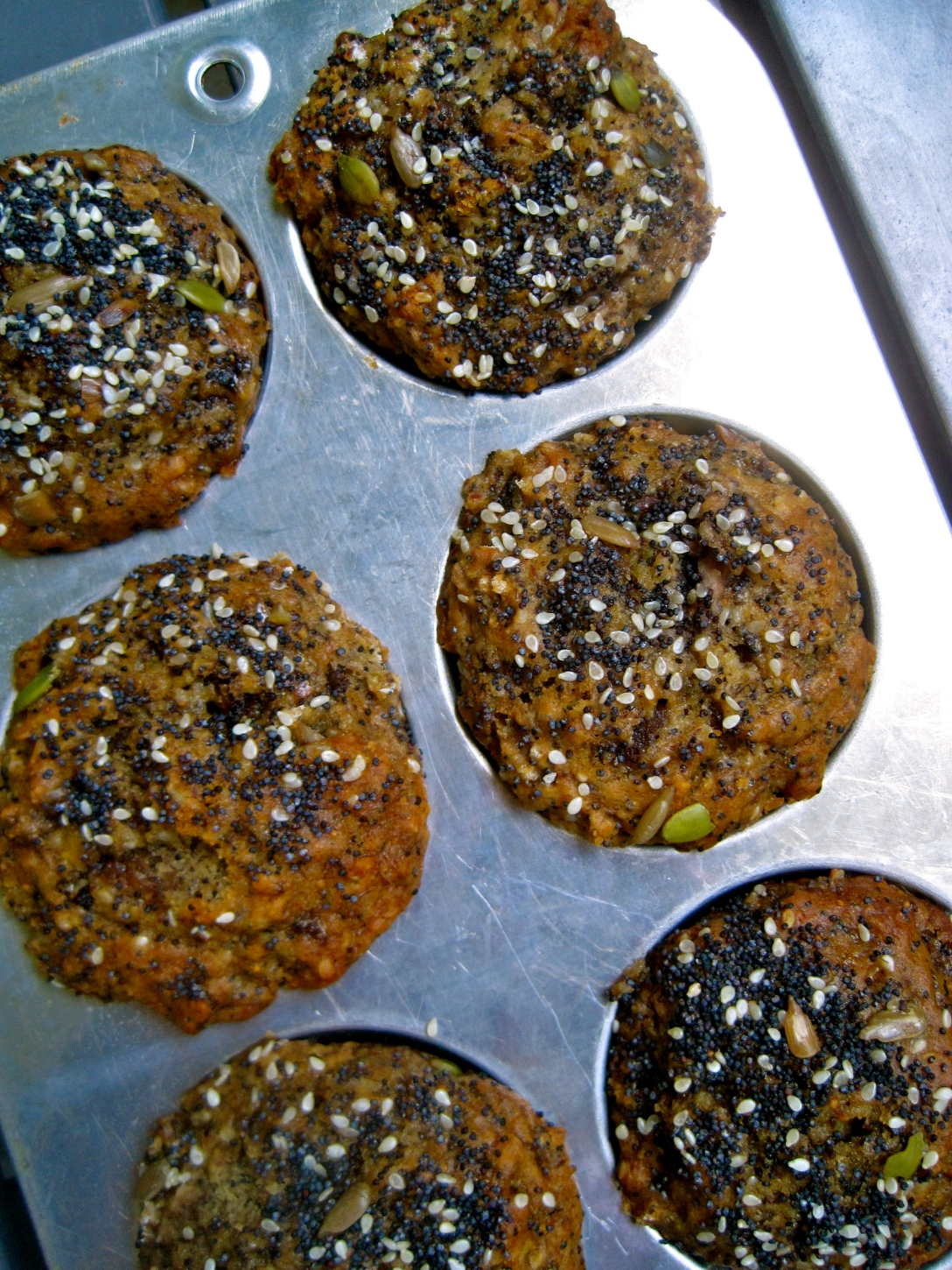 Banana and Fig Thousand Seed Muffins