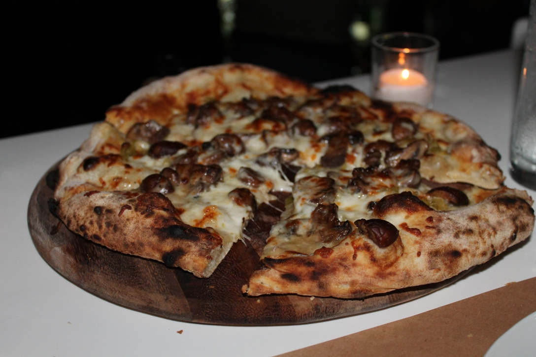Mushroom and Truffle Oil Pizza from Cucina Urbana in San Diego, CA