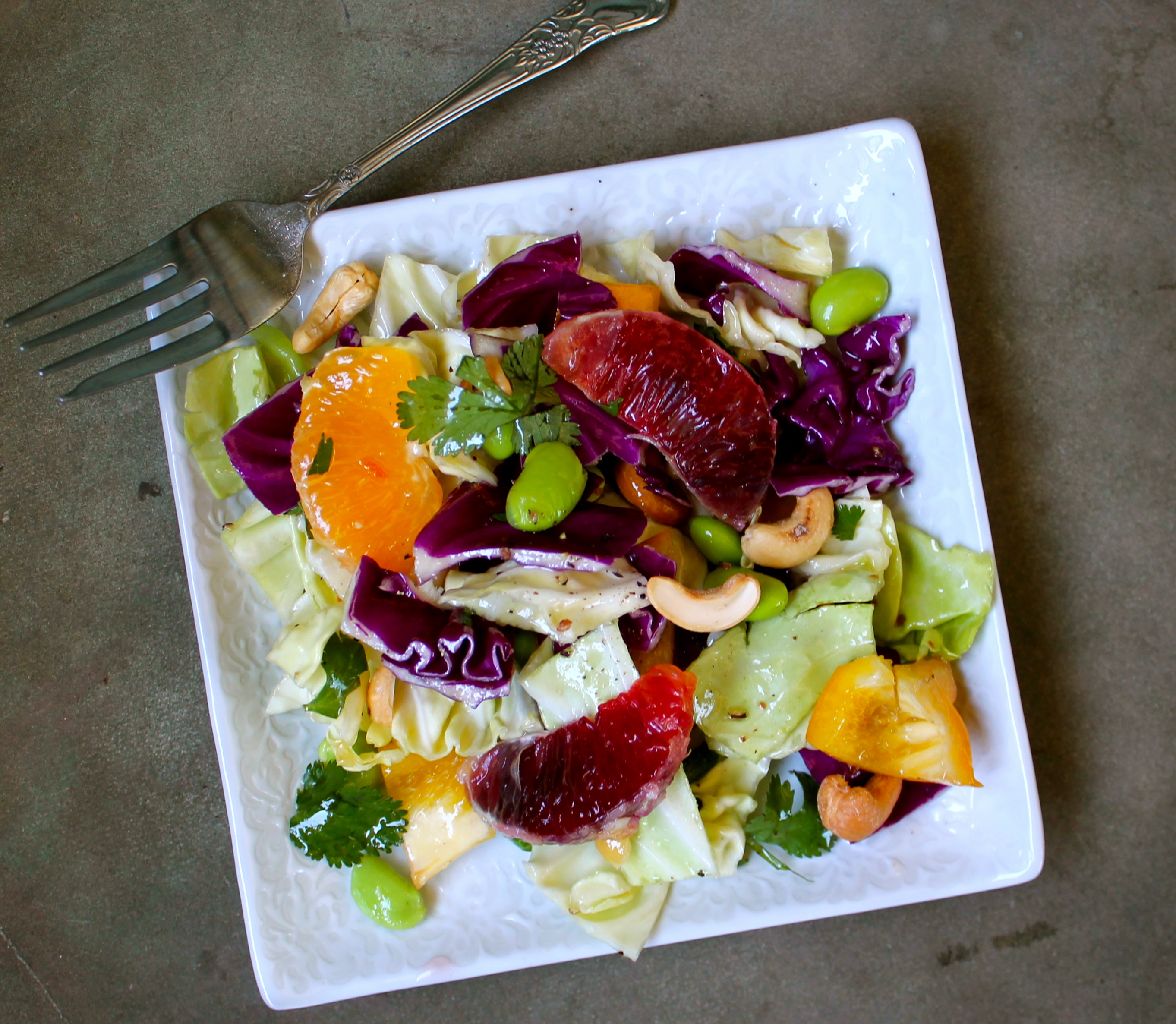 Blood Orange, Edamame, and Cashew Salad