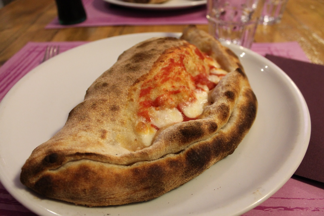 GIANT calzone in Orvieto, Italy. And yes, I did eat the whole thing ;)