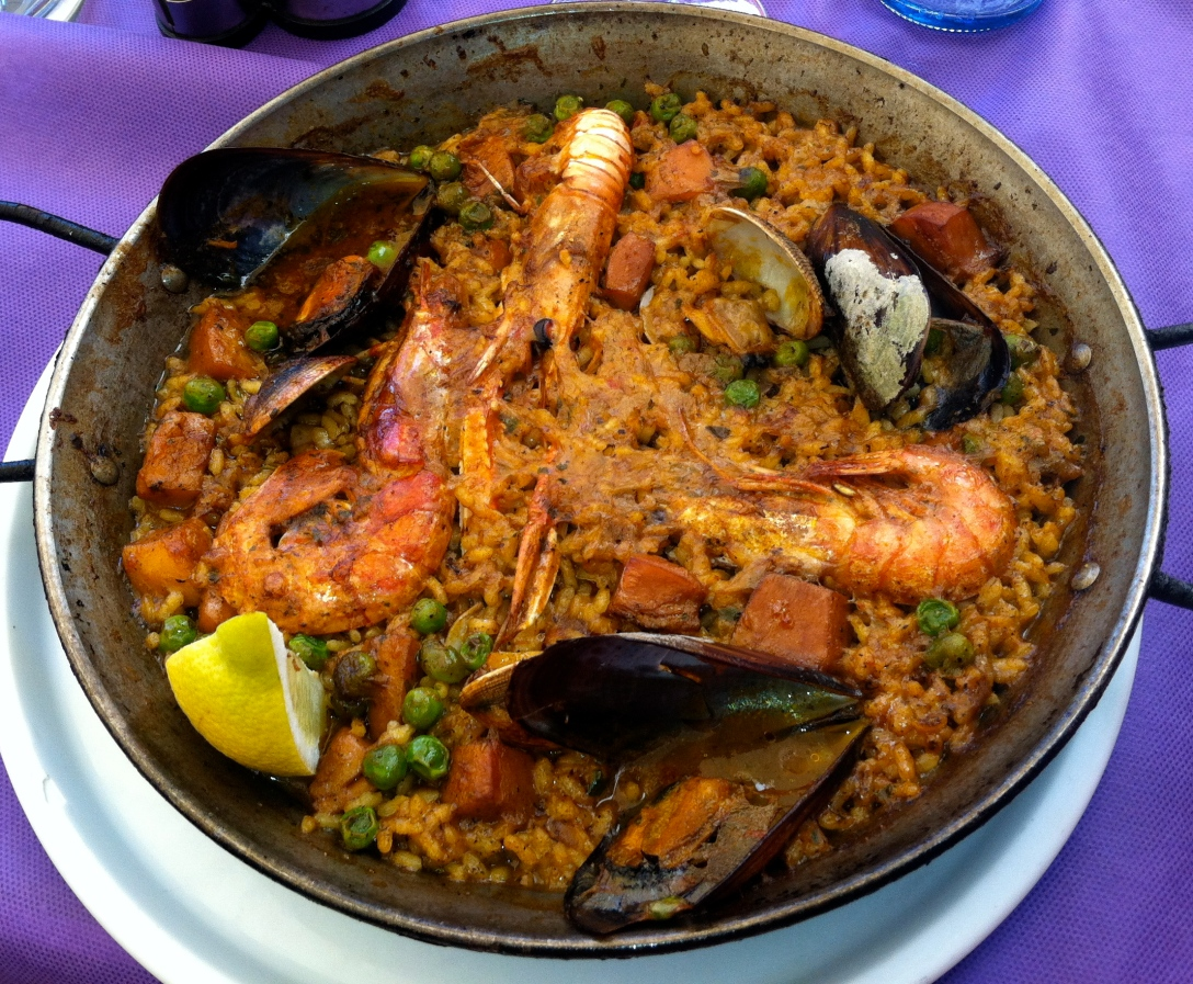 Amazing Paella in Barcelona, Spain