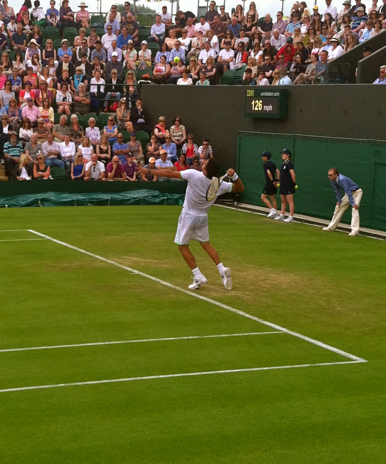 Wimbledon Tennis--Completely worth the lack of sleep and hours standing in the