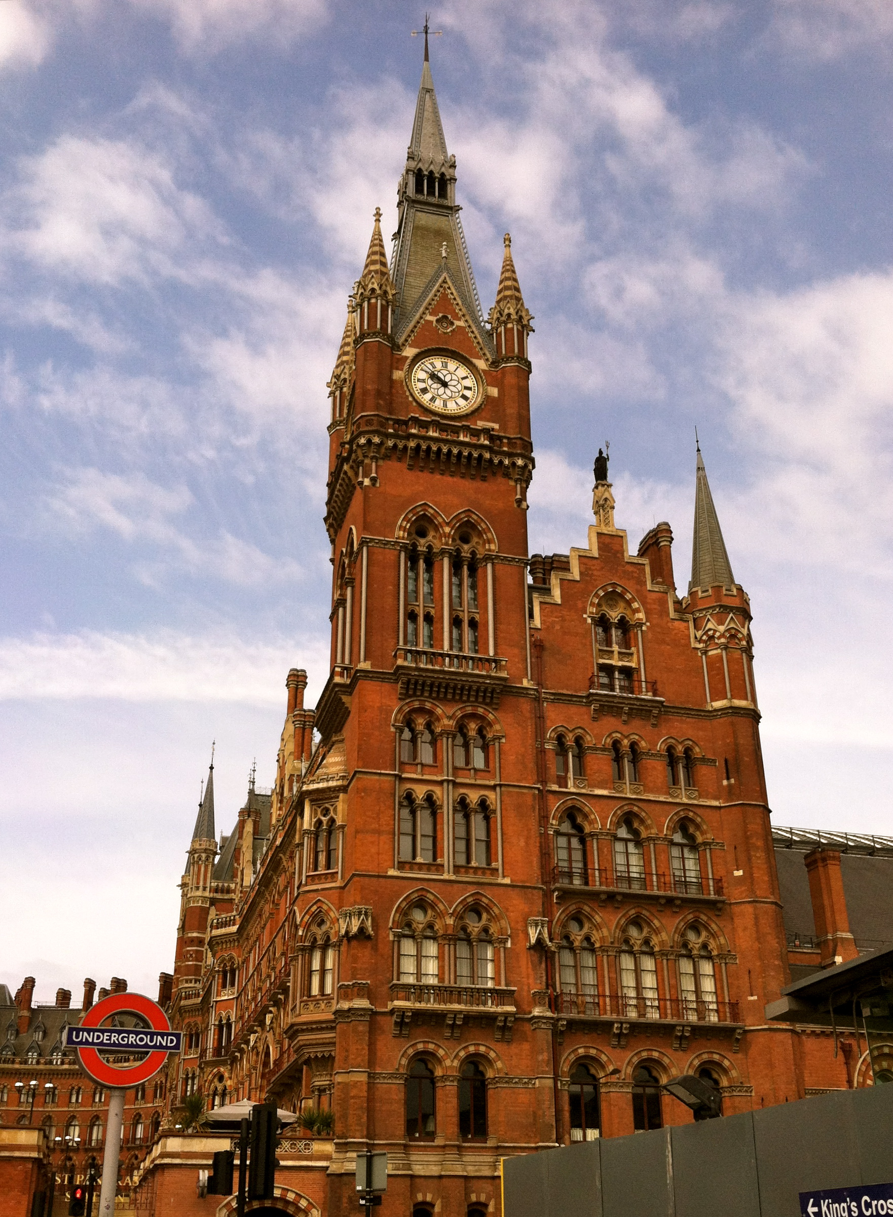 St. Pancras Renaissance London Hotel. Apparently, they used this hotel for Hogwarts in Harry Potter