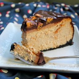 Chocolate Peanut Butter Cheesecake with Ganache